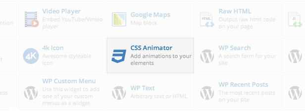 CSS Animator element in Visual Composer