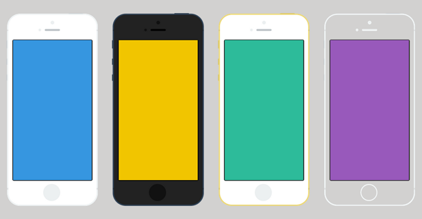 iPhone colors available for Image & Video Mockups