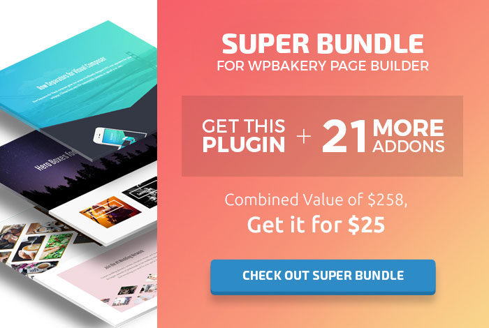 Check out Super Bundle for WPBakery Page Builder / Visual Composer  - other plugin banner - 12k SVG Icons for WPBakery Page Builder (formerly Visual Composer)