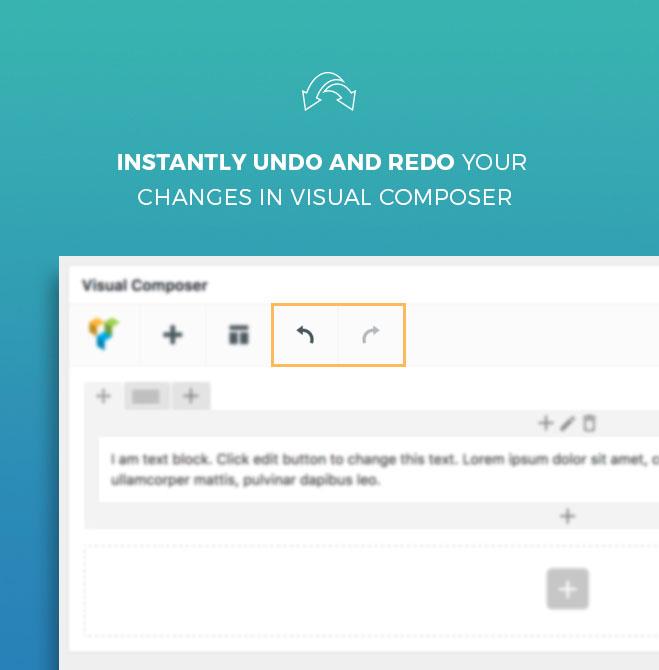 Undo and Redo for Visual Composer 2